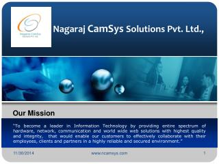 Nag ar aj  CamSys  Solutions Pvt. Ltd.,