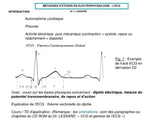 INTRODUCTION Automatisme cardiaque 	Preuves