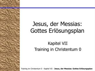 Jesus, der Messias: Gottes Erl�sungsplan