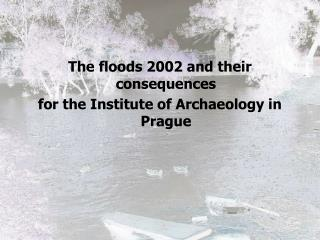 The floods 2002 and their consequences  for the Institute of Archaeology in Prague