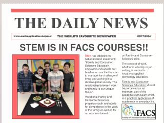 STEM IS IN FACS COURSES!!