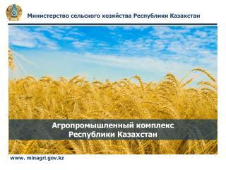 Агропромышленный комплекс  Республики Казахстан