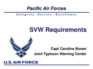 SVW Requirements