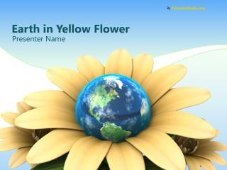 Earth in Yellow Flower
