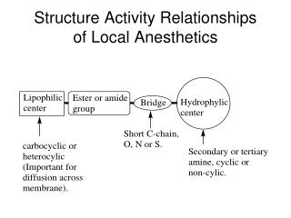 Structure Activity Relationships of Local Anesthetics