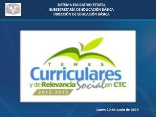 SISTEMA EDUCATIVO ESTATAL SUBSECRETARÍA DE EDUCACIÓN BÁSICA DIRECCIÓN DE EDUCACIÓN BÁSICA