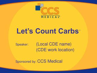 Let s Count Carbs