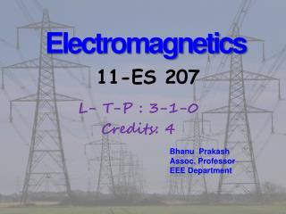 Electromagnetics 11-ES 207