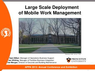 Large Scale Deployment of Mobile Work Management
