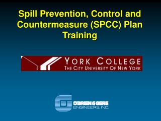 Spill Prevention, Control and Countermeasure (SPCC) Plan Training