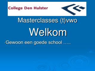 Masterclasses (t)vwo
