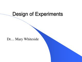 Design of Experiments