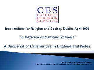 Catholic School Provision in England and Wales