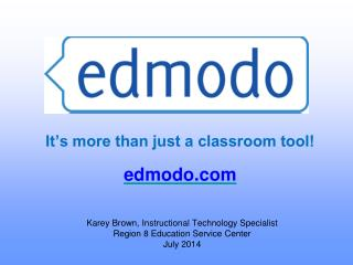 It's more than just a classroom tool!   edmodo