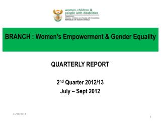 BRANCH : Women's Empowerment & Gender Equality