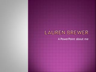 Lauren Brewer