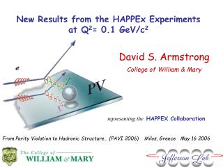 New Results from the HAPPEx Experiments  at  Q 2 = 0.1 GeV/c 2