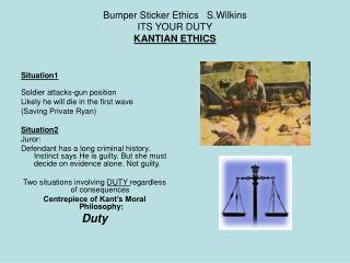 Bumper Sticker Ethics   S.Wilkins ITS YOUR DUTY KANTIAN ETHICS