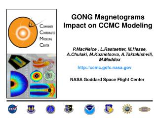 GONG Magnetograms Impact on CCMC Modeling