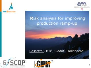 R isk analysis for improving production ramp-up