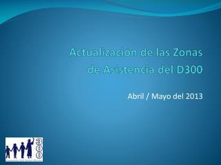 Actualización de las Zonas de Asistencia del D300