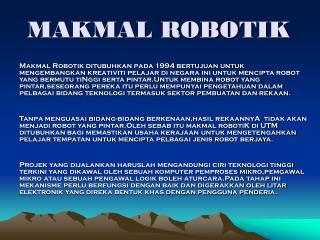 MAKMAL ROBOTIK