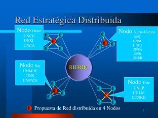 Red Estratégica Distribuida