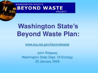 Washington State's Beyond Waste Plan:
