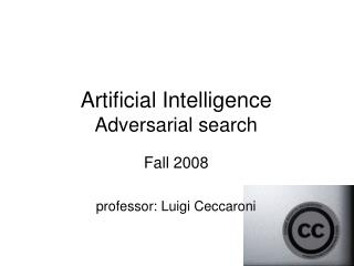 Artificial Intelligence Adversarial search