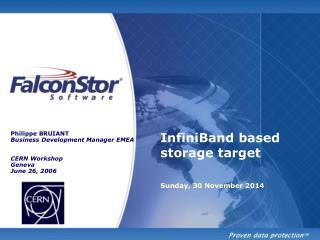 InfiniBand based storage target