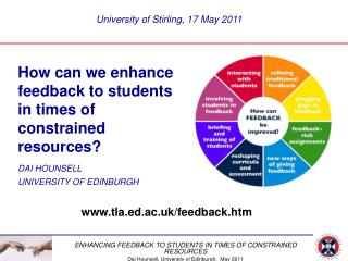 How can we enhance feedback to students  in times of  constrained resources? DAI HOUNSELL