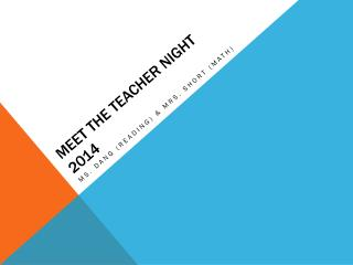 Meet the teacher night 2014