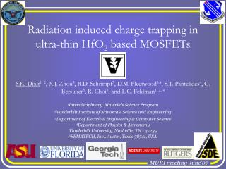 Radiation induced charge trapping in ultra-thin HfO 2  based MOSFETs
