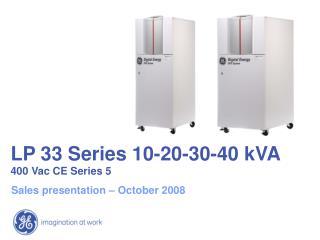 LP 33 Series 10-20-30-40 kVA 400 Vac CE Series 5