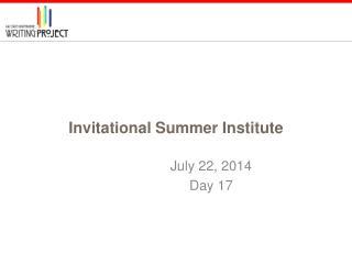 Invitational Summer Institute