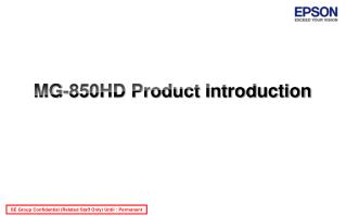 MG-850HD Product Introduction