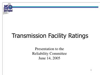 Transmission Facility Ratings