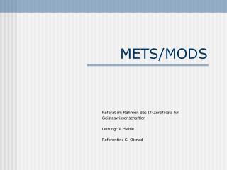 METS/MODS