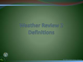 Weather Review 2 Definitions