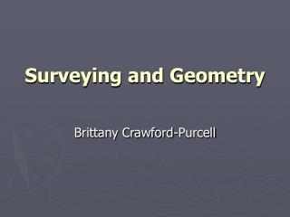 Surveying and Geometry