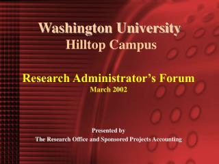 Washington University  Hilltop Campus