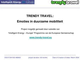 TRENDY TRAVEL: Emoties in duurzame mobiliteit