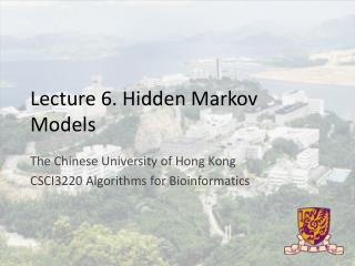 Lecture 6. Hidden Markov Models