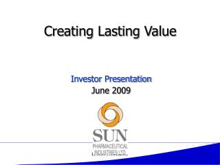 Creating Lasting Value