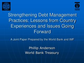 Phillip Anderson World Bank Treasury