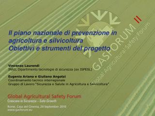 Il piano nazionale di prevenzione in  agricoltura e silvicoltura