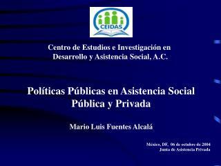 Centro de Estudios e Investigación en  Desarrollo y Asistencia Social, A.C.