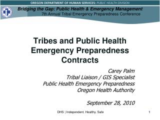 Tribes and Public Health Emergency Preparedness Contracts