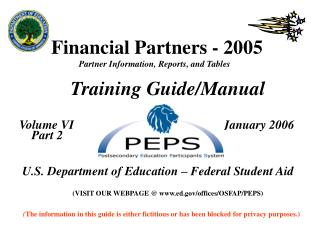 Financial Partners - 2005  Partner Information, Reports, and Tables