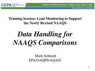 Pb NAAQS Data Handling ~ Appendix R